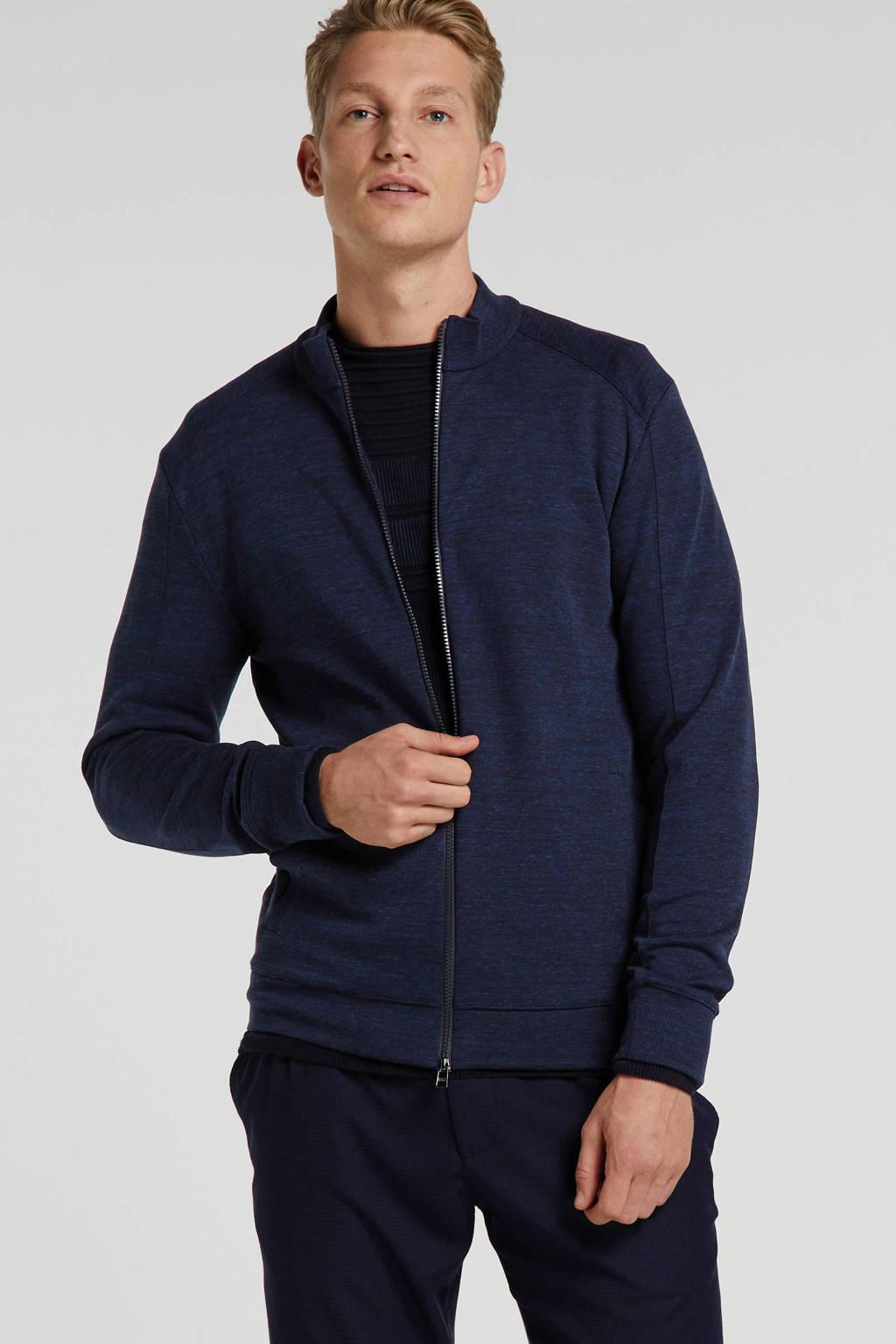 BOSS Menswear gemêleerd vest donkerblauw, Donkerblauw