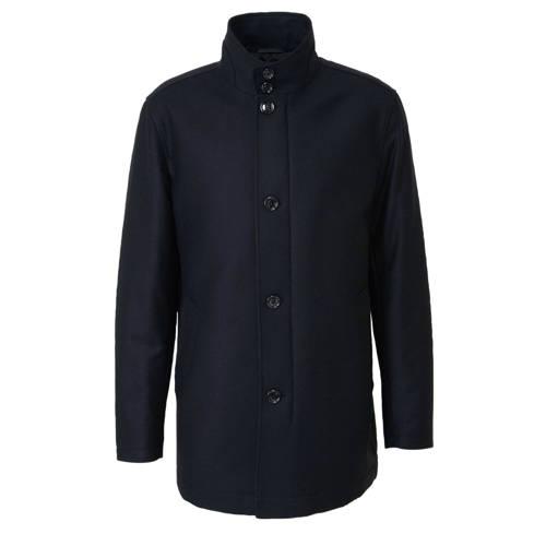 BOSS Menswear winterjas met wol marine