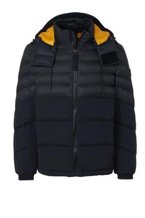 winterjas zwart/geel