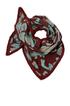 sjaal donkerrood