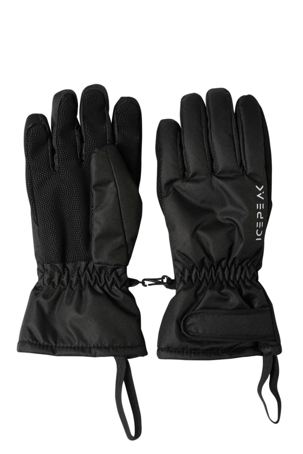 Icepeak   handschoenen zwart, Zwart