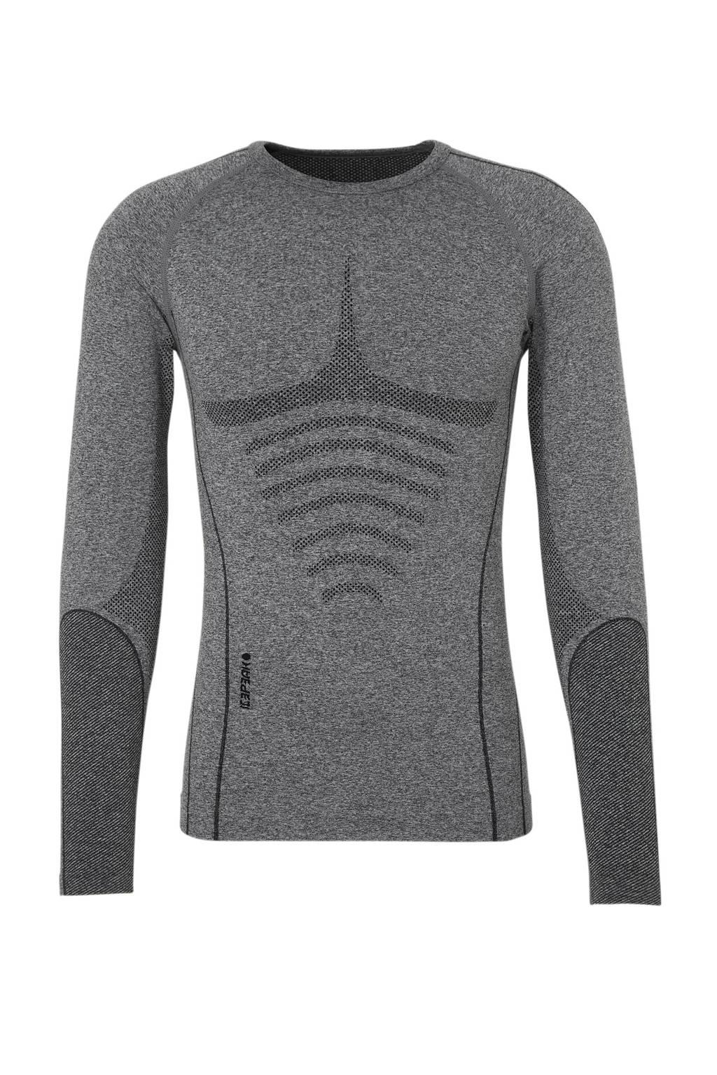 Icepeak thermoshirt Ischua grijs, Grijs/zwart