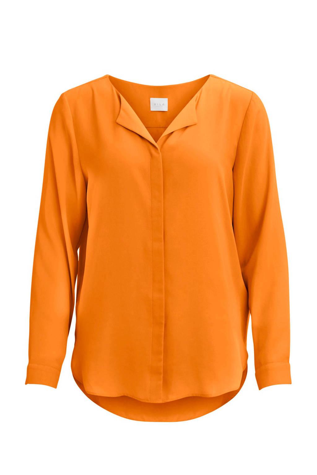 VILA blouse oranje, Oranje