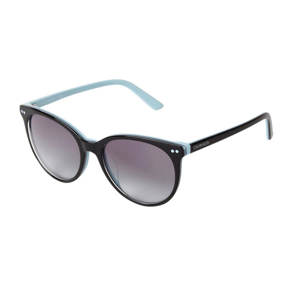 CALVIN KLEIN zonnebril CK18509S, Zwat/lichtblauw