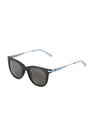 zonnebril CKJ19701S zwart/lichtblauw
