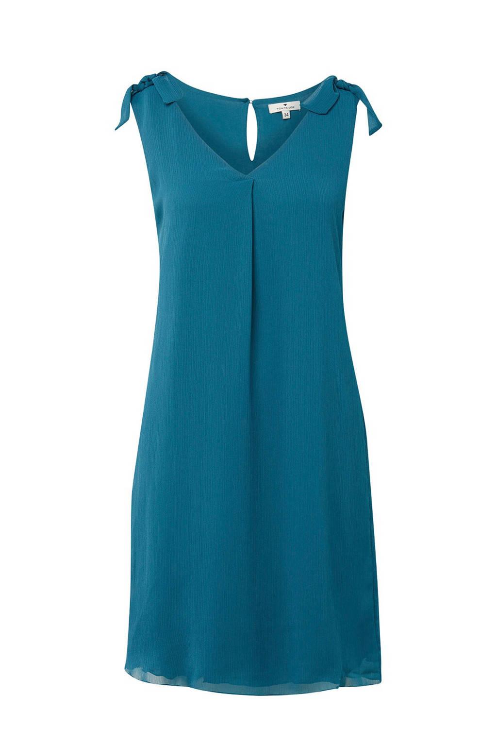 Tom Tailor jurk met knoopdetail, Blauw