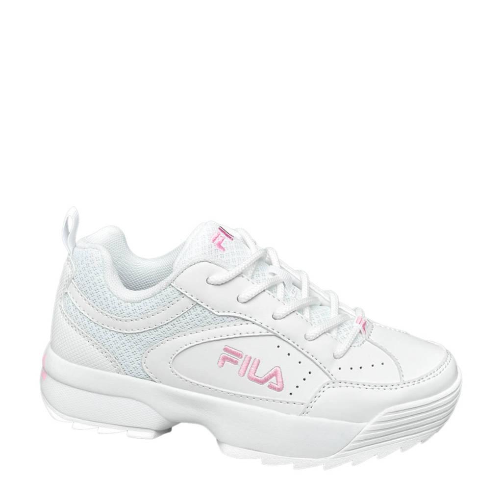 Fila  chunky sneakers wit/roze, Wit/roze