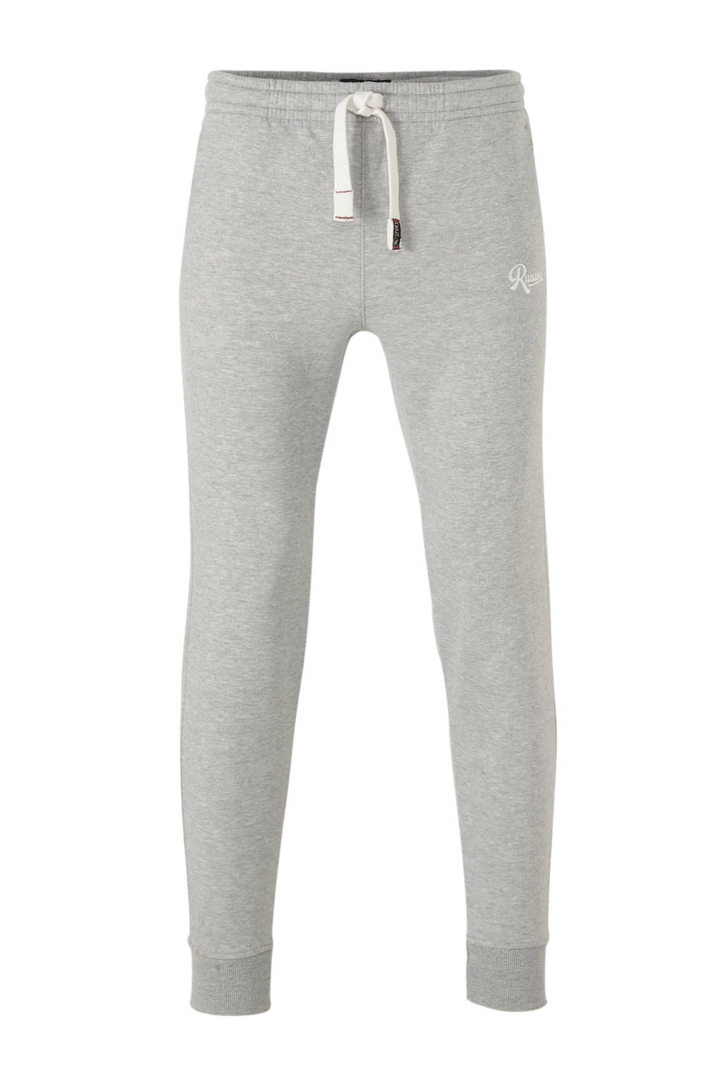 Rucanor fleece joggingbroek grijs melange, Grijs melange