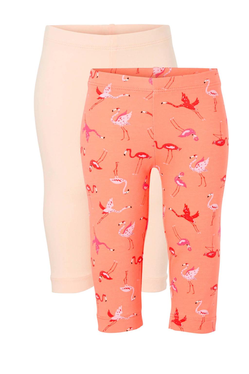 C&A Palomino legging - set van 2, Oranje/zalm