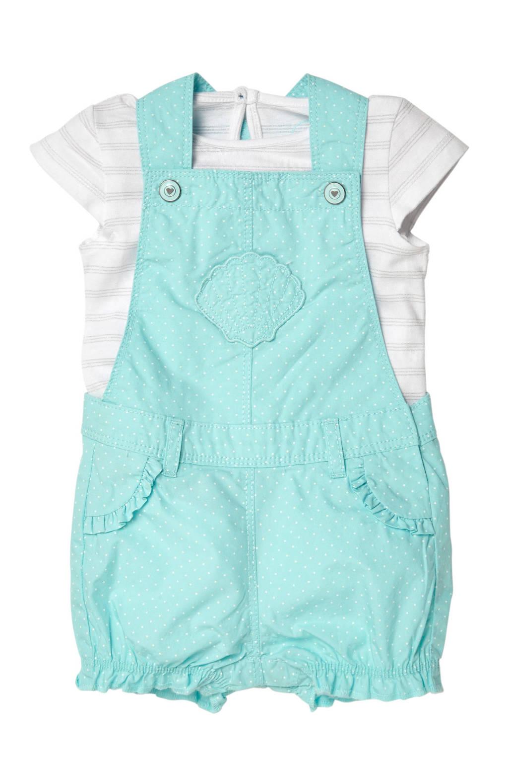 C&A Baby Club T-shirt + jumpsuit mintgroen, Mintgroen