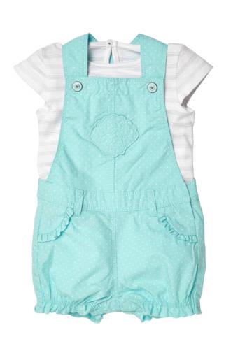 Baby Club T-shirt + jumpsuit mintgroen