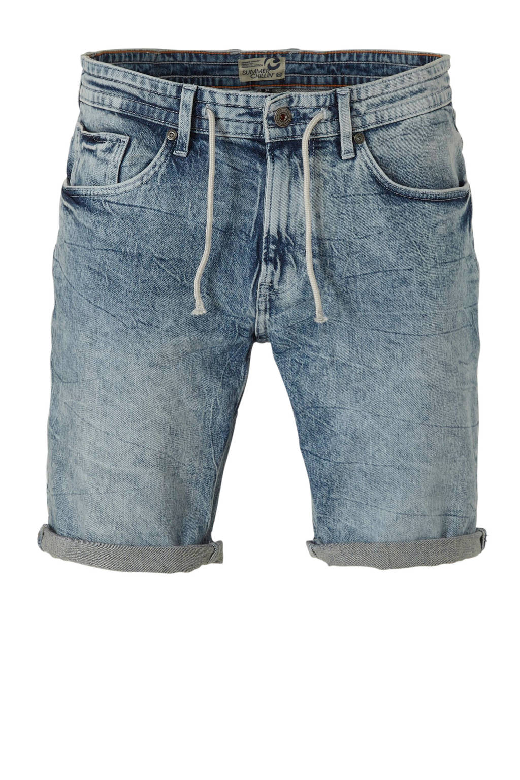 C&A Angelo Litrico regular fit jeans short, Blauw