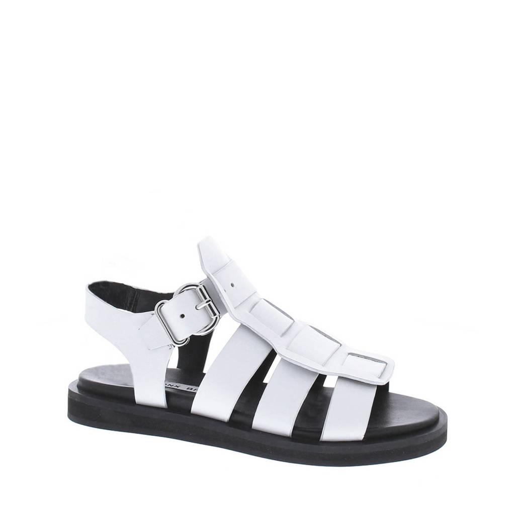 Bronx Bala leren sandalen wit, Wit