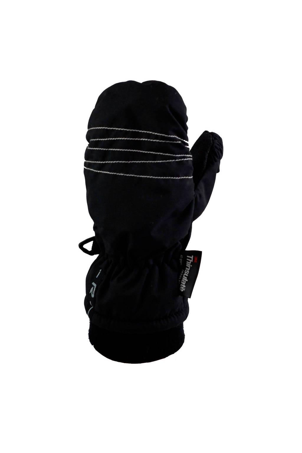 Rucanor skihandschoenen zwart, Zwart
