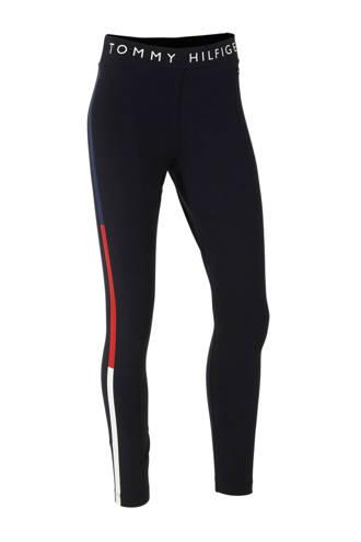 slim fit joggingbroek met printopdruk donkerblauw/rood/wit
