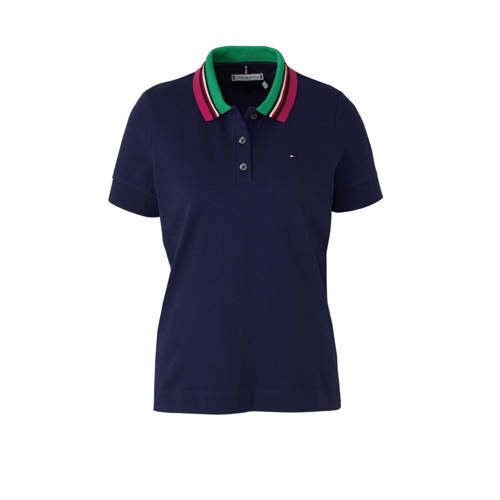 Tommy Hilfiger polo donkerblauw multi