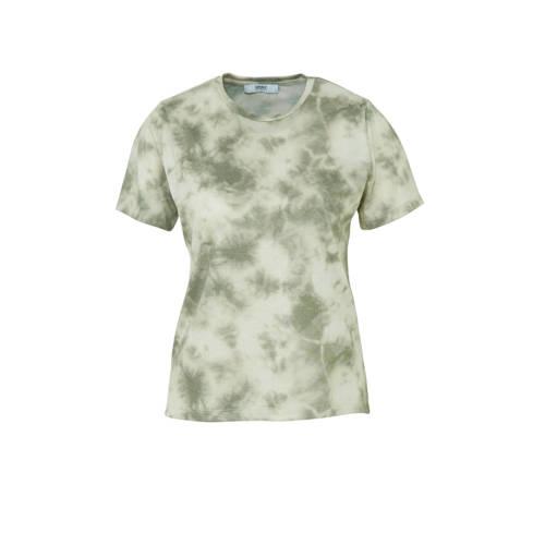 ONLY tie-dye T-shirt groen/wit