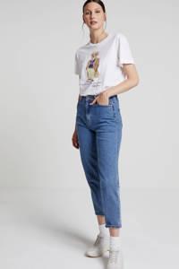 ONLY high waist mom jeans blauw, Blauw