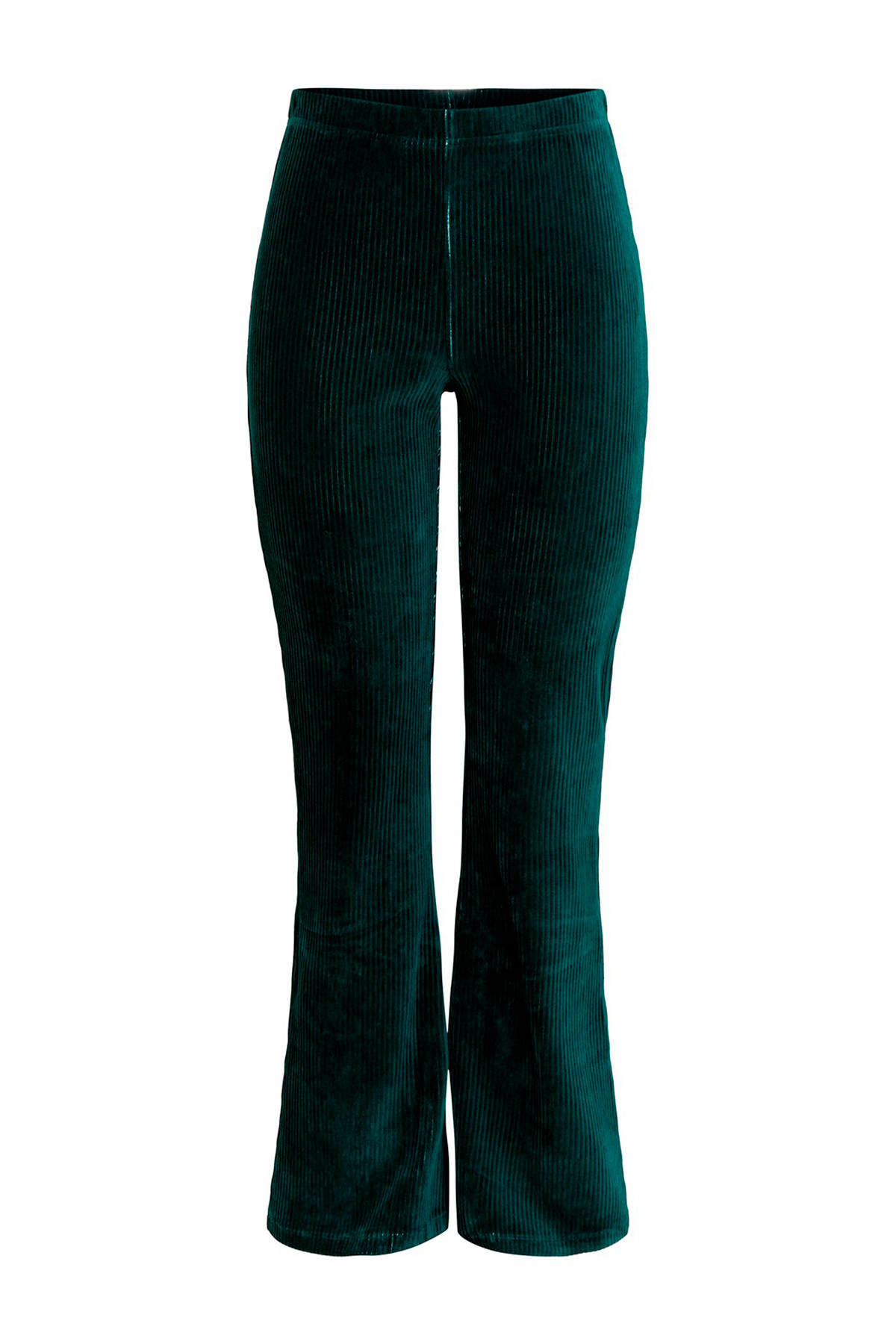 PIECES flared broek turquoise | wehkamp
