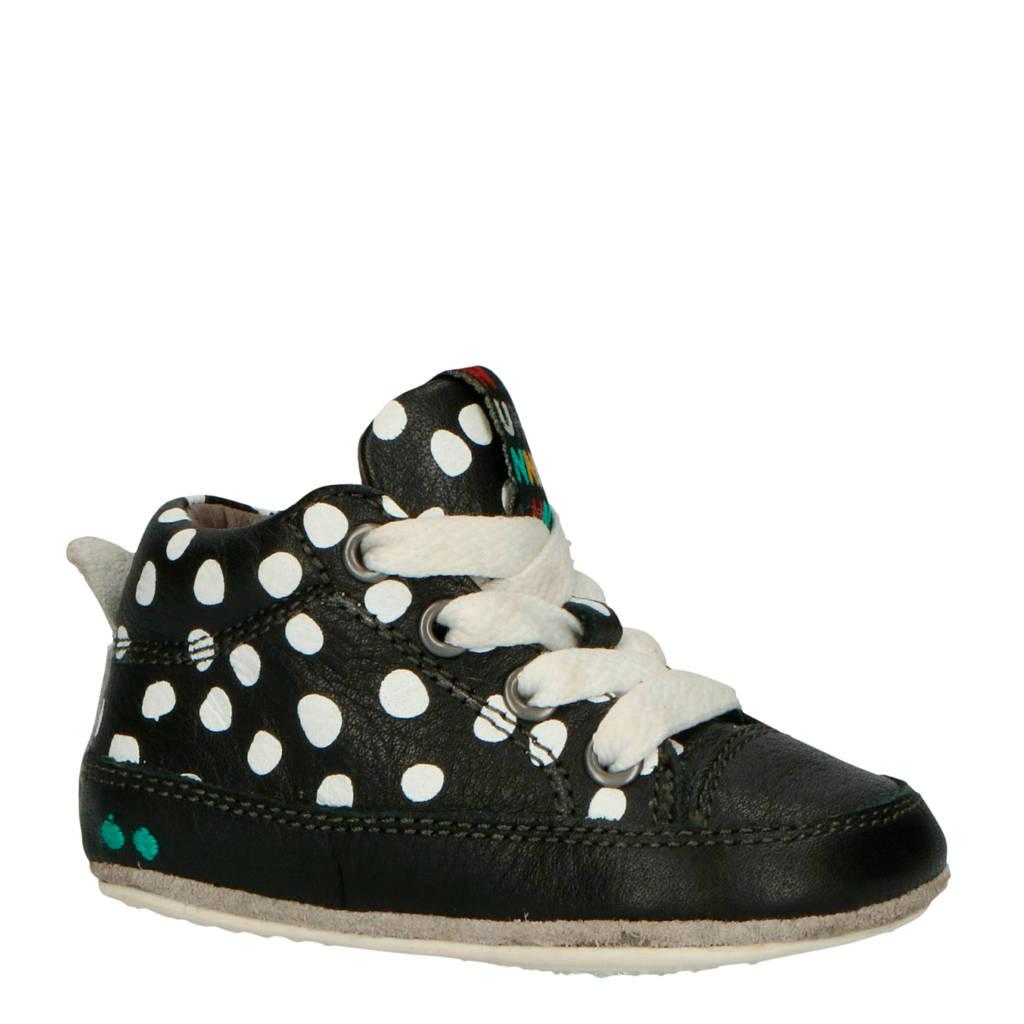 Bunnies   Zukke Zacht leren sneakers zwart/wit, Zwart/wit