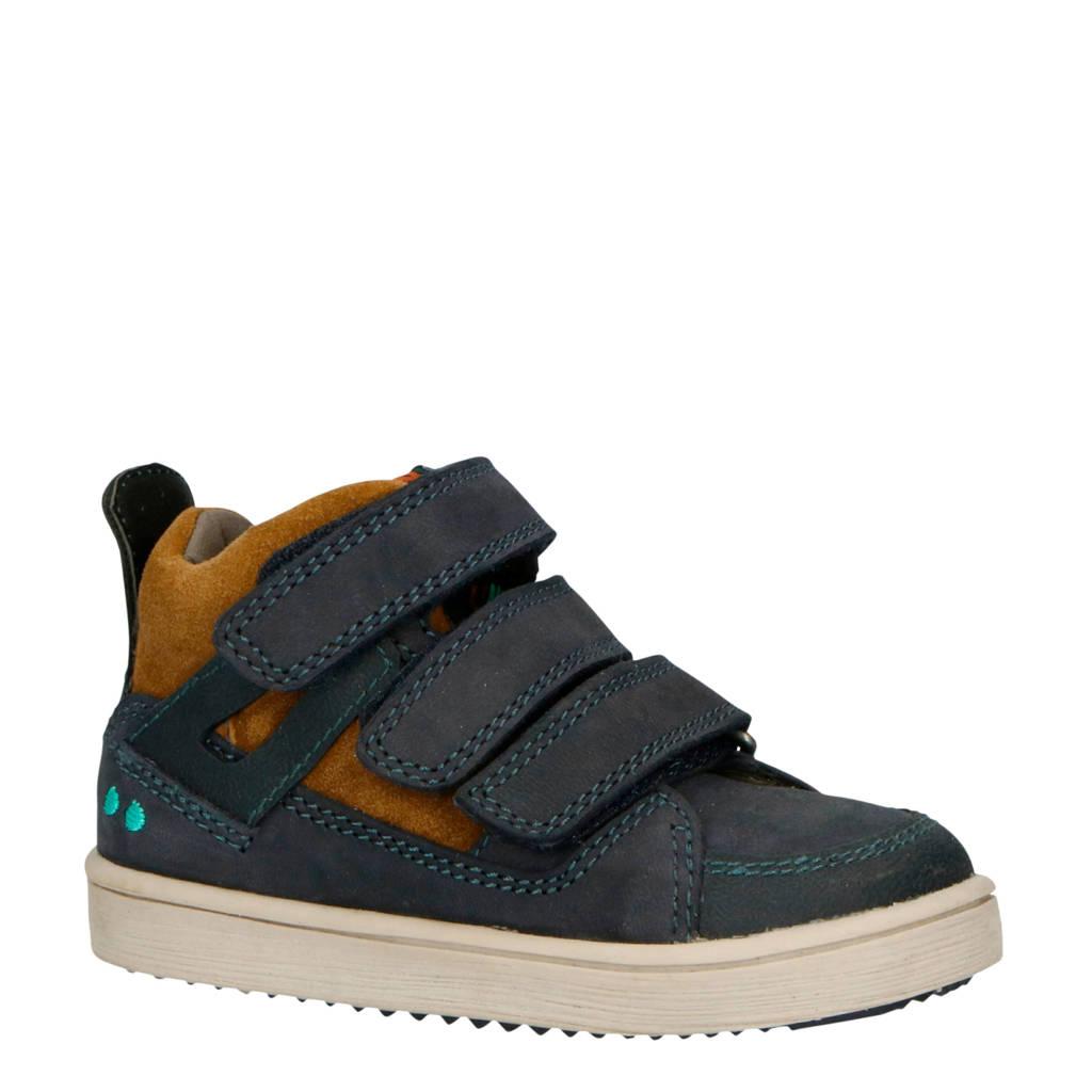 Bunnies  Patrick Pit leren sneakers blauw/bruin, Blauw/bruin