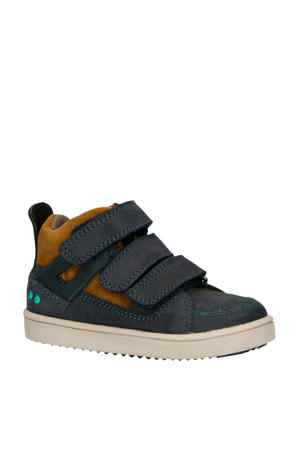 Patrick Pit leren sneakers blauw/bruin