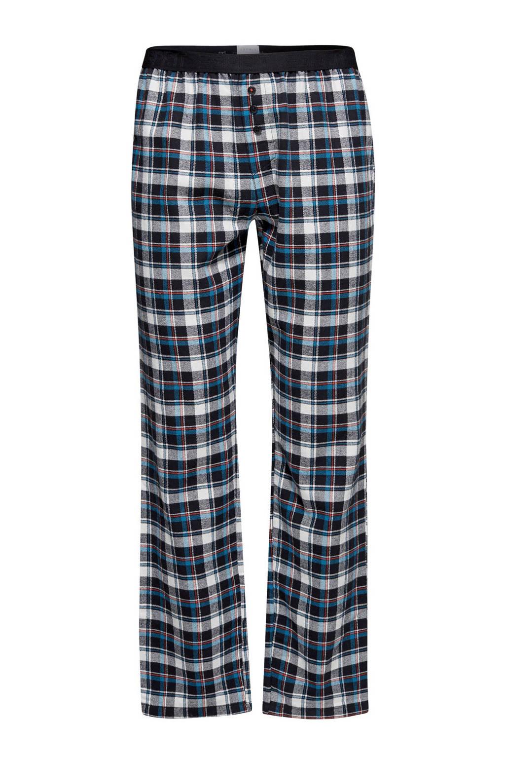 ESPRIT Men Bodywear geruite flanellen pyjamabroek blauw, Blauw