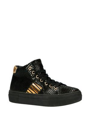 Daantje Dream leren sneakers zwart/goud
