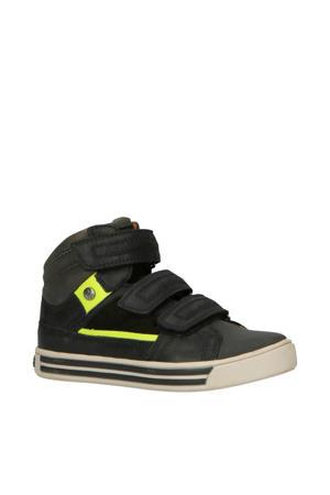 Davey Day leren sneakers zwart