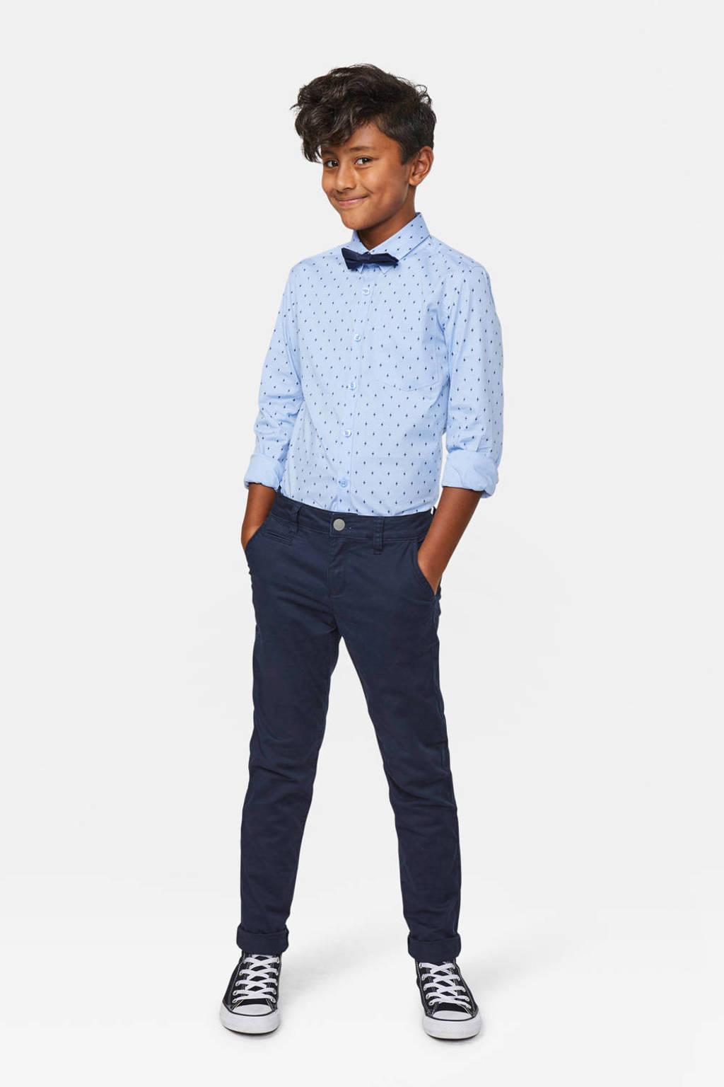 WE Fashion Blue Ridge skinny broek donkerblauw, Donkerblauw