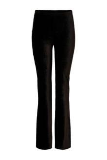 corduroy flared broek zwart