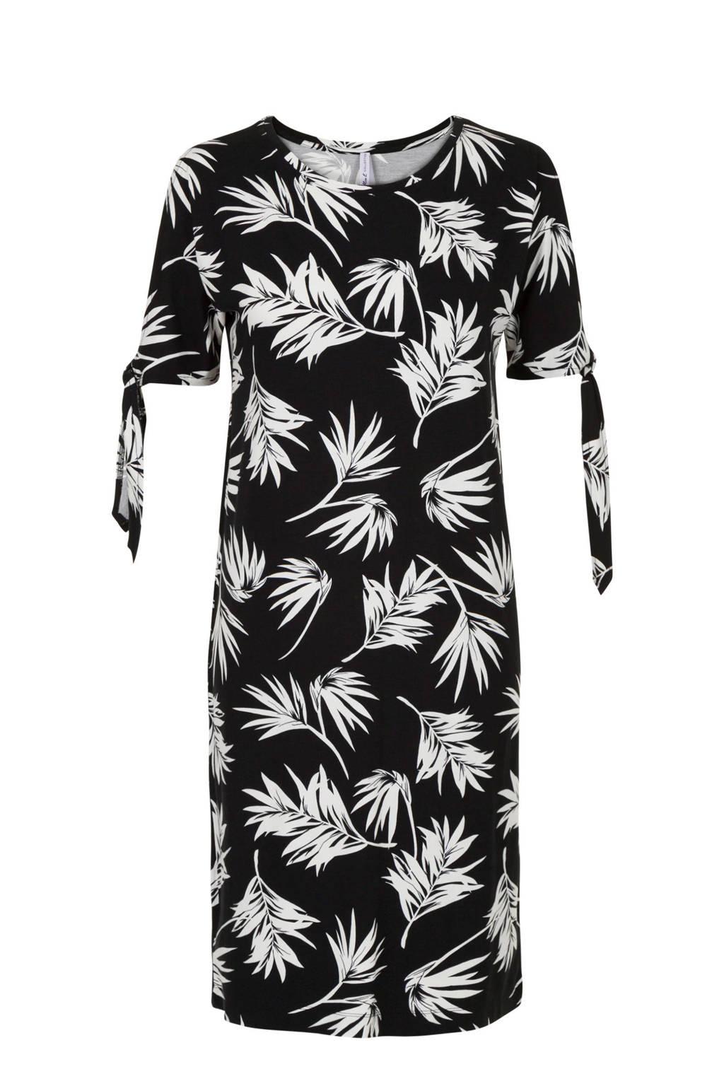 Miss Etam Regulier jurk met open mouwen, Zwart/wit