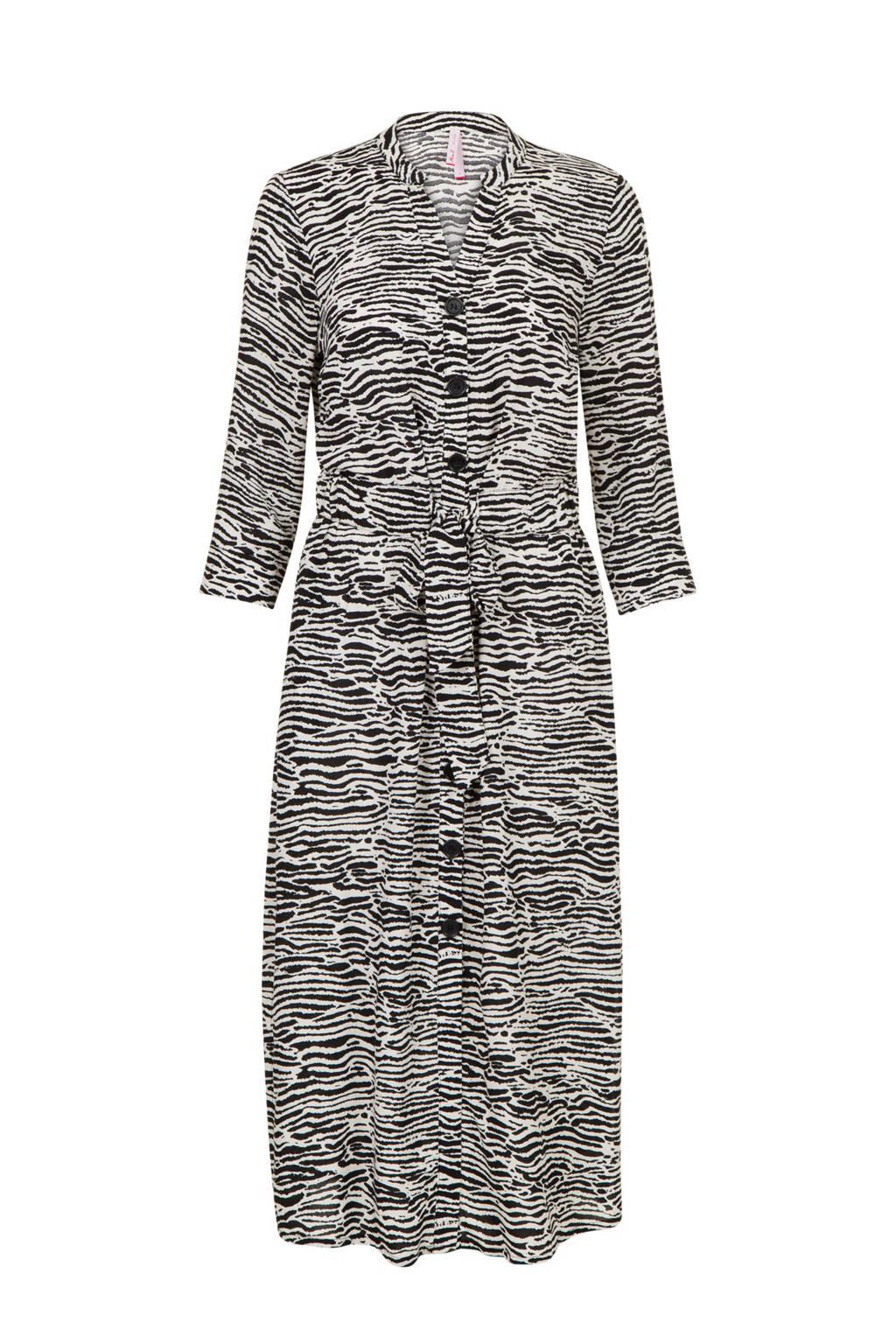 Miss Etam Regulier jurk met all over print, Wit