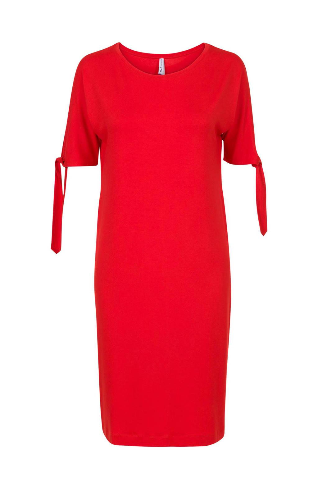 Miss Etam Regulier jurk met open mouwen, Rood
