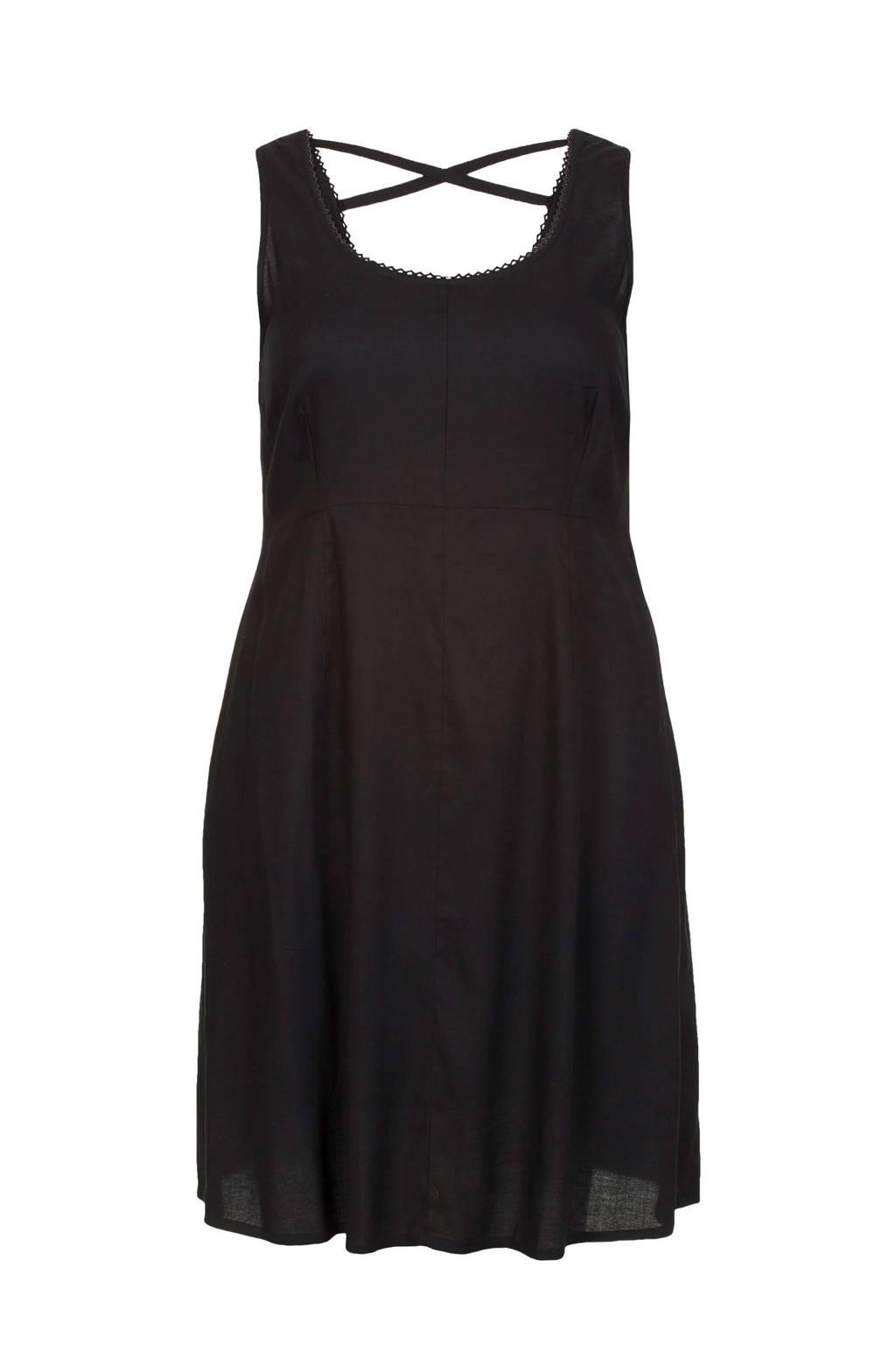 Miss Etam Plus jurk, Zwart