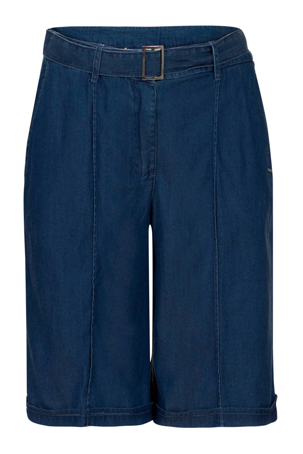 Promiss loose fit jeans short, Dark denim