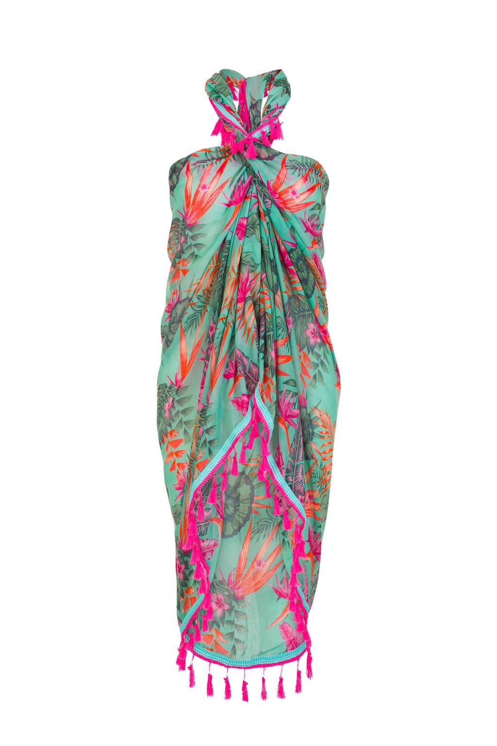 b96e2799c1 Miss Etam Accessoires pareo, Turkoois/roze