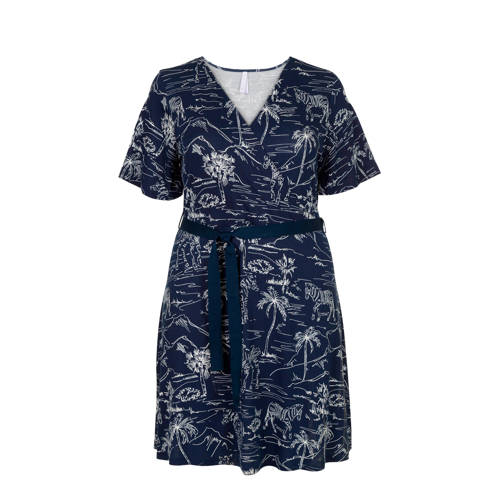 Miss Etam Plus overslagjurk marine