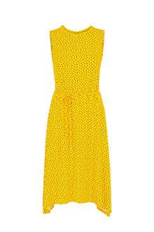 Regulier jurk met stippen en strikceintuur