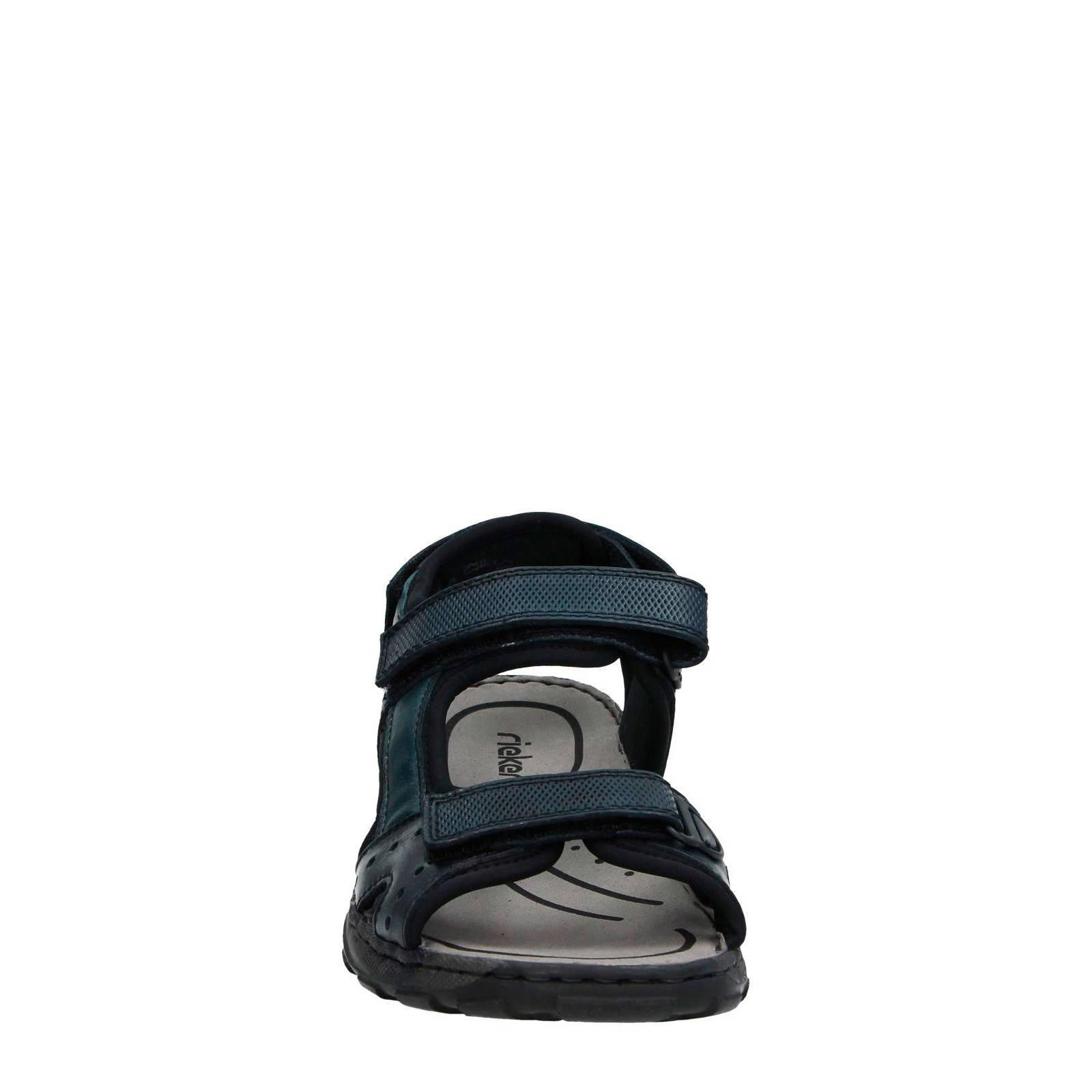 Rieker leren outdoor sandalen donkerblauw