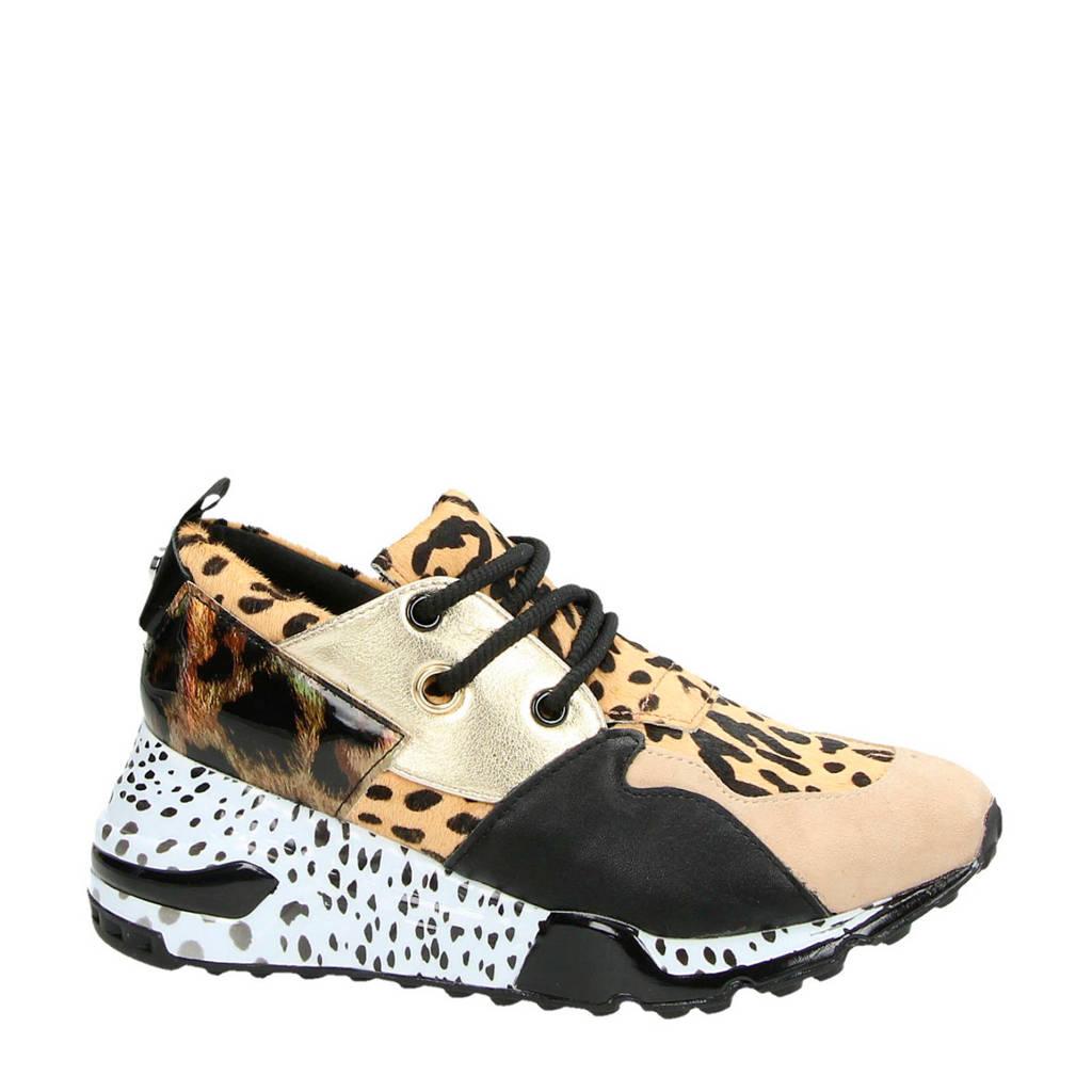 Steve Madden  Cliff dad sneakers goud/panterprint, Goud/bruin