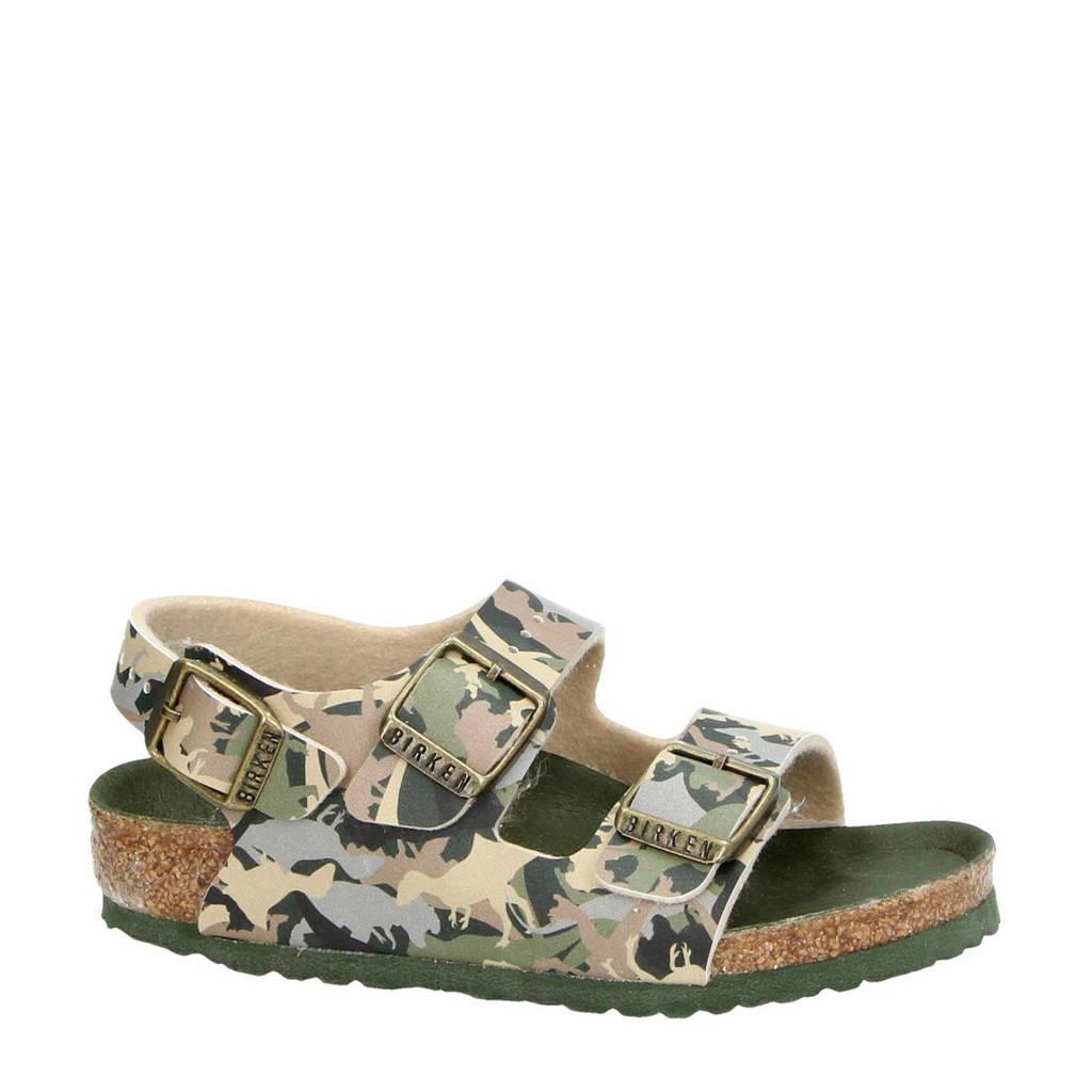 Birkenstock   Milano sandalen camouflage, Groen/Camouflage