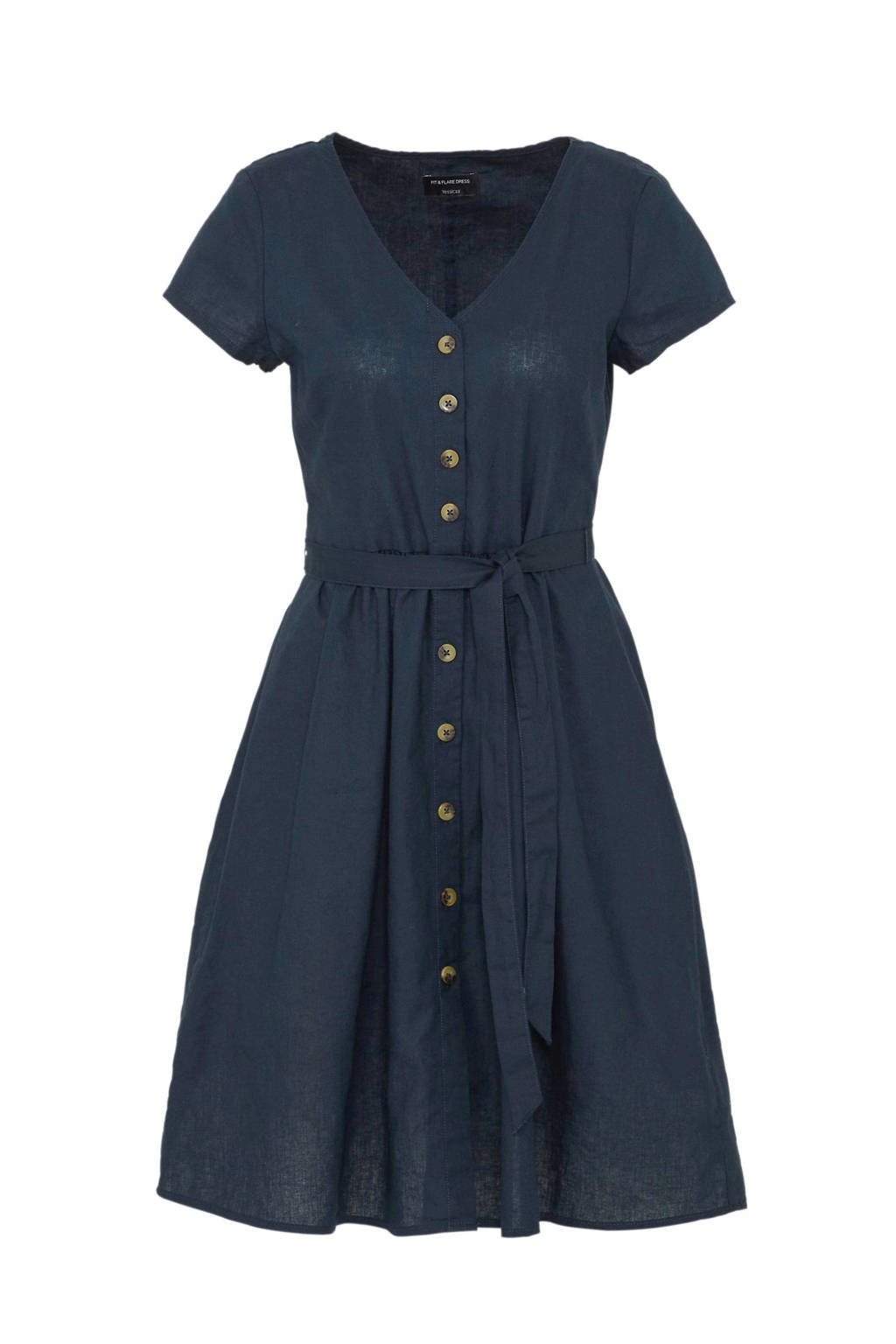 C&A Yessica jurk met knopen donkerblauw, Donkerblauw