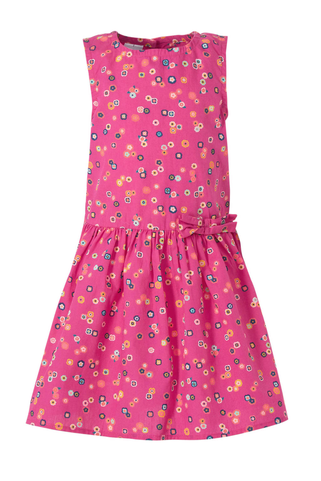 C&A Palomino gebloemde jurk roze, Roze/Geel/Blauw