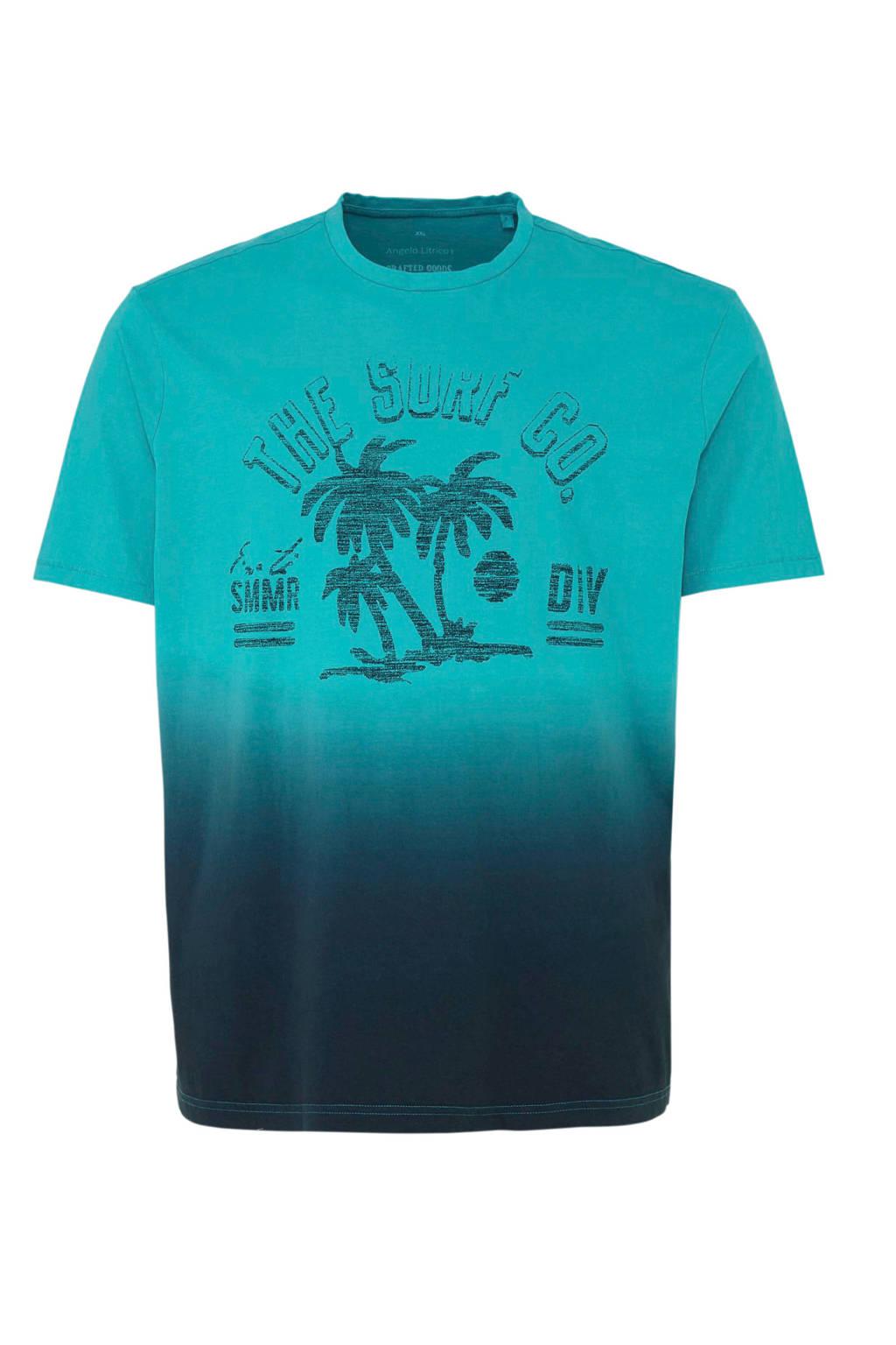 C&A XL Angelo Litrico T-shirt met printopdruk, Turquoise