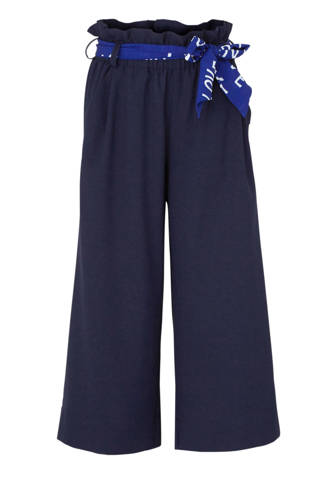 high waist loose fit broek Fienna donkerblauw