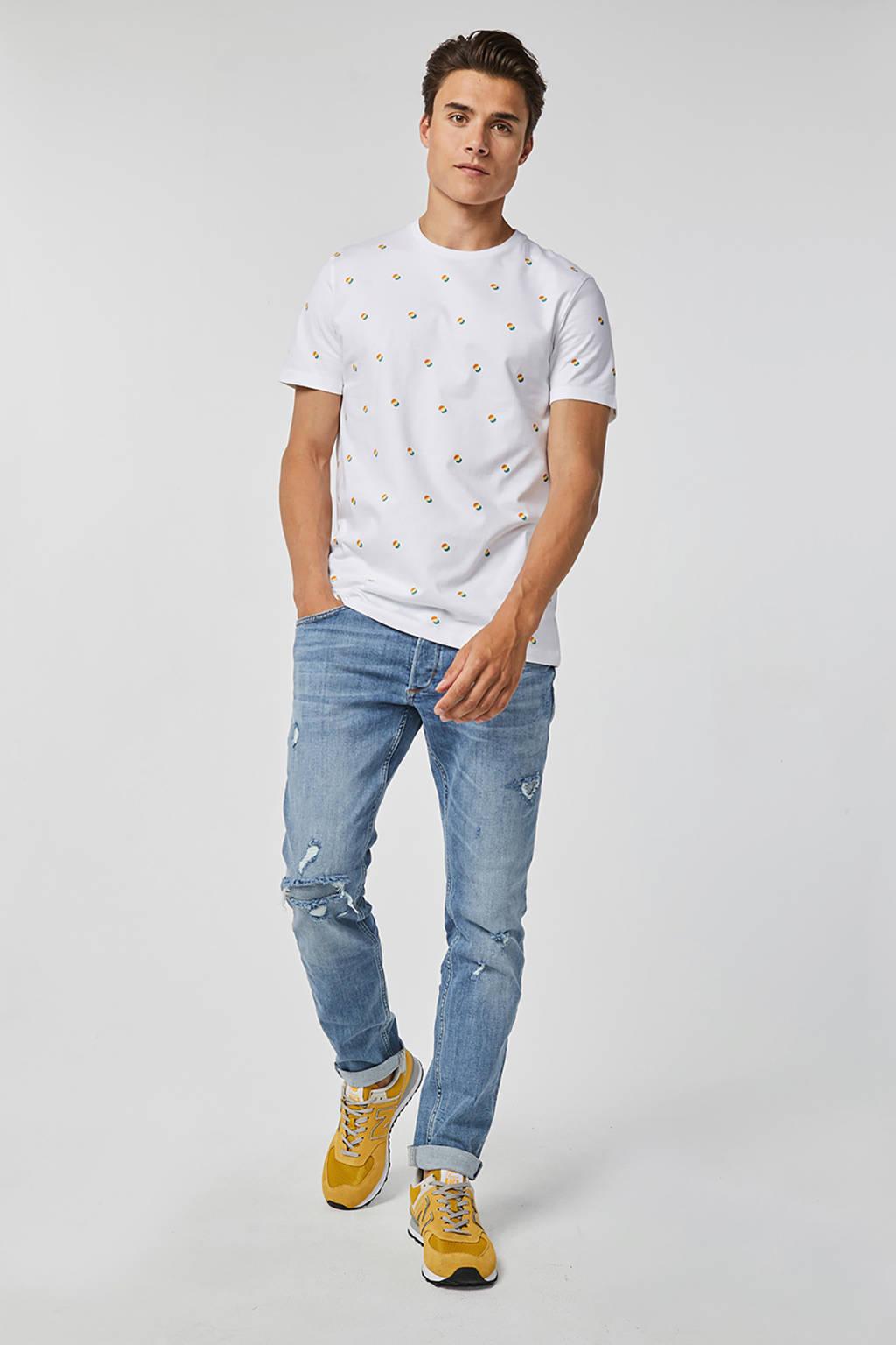 WE Fashion Blue Ridge slim fit jeans, Lichtblauw