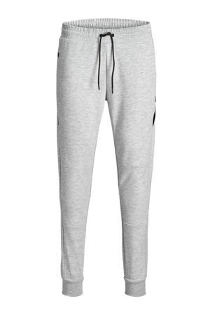 skinny joggingbroek met logo grijs/zwart