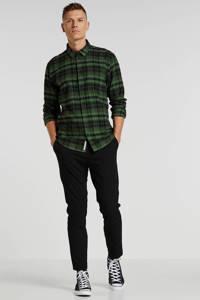 Minimum geruit regular fit overhemd groen/zwart, Groen/zwart