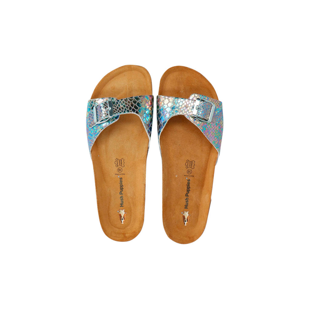 Hush Puppies slippers zilver/metallic, Zilver